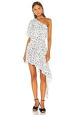 GIUSEPPE DI MORABITO One Shoulder Dress in Black & White