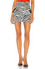 GIUSEPPE DI MORABITO Zebra Skirt in Black & White
