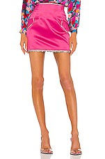 GIUSEPPE DI MORABITO Silk Mini Skirt in Fuchsia
