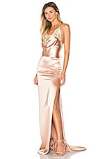 Gemeli Power Charlot Gown in Rose Stain