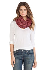 Lane Scarf in Burgundy & Neon Pink