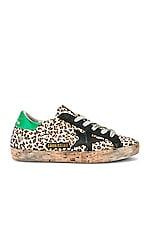 Golden Goose Superstar Sneaker in Leopard & Cork
