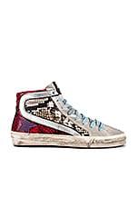 Golden Goose Slide Sneaker in Multi Snake Print & Purple