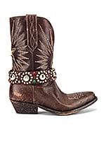 Golden Goose Wish Star Low Boots in Dark Brown