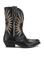 Golden Goose Wish Star Low Boots in Black Leather