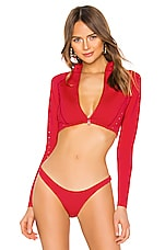 GIGI C Morgan Surf Jacket in Red