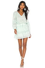 Generation Love Gia Embroidered Dress in Seafoam