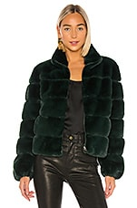 Generation Love Jodi Faux Fur Jacket in Forest Green