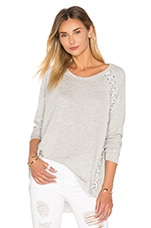 Ridge Lace Up Top en Gris
