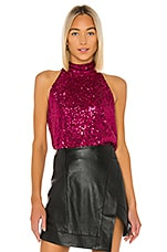 Generation Love Kassie Sequin Tank in Magenta