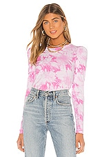 Generation Love Josephine Top in Pink & White