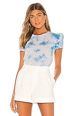 Generation Love Kelly Puff Tee in Blue & White
