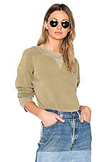 The Distressed Sweatshirt in Washed Military