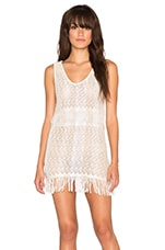 Zane Fringe Mini Dress in Bashful