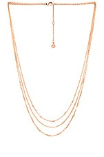 Joplin Layered Necklace in Rose Gold