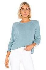 The Great The College Sweatshirt in Turquoise