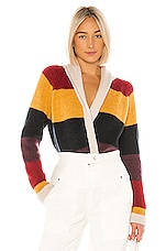 The Great The Stripe Lodge Cardigan in Sunbeam Multi