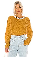 The Great The Cable Roll Pullover in Sunbeam