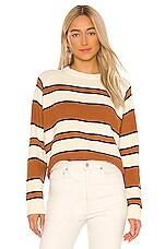 The Great The Dune Sweater in Sweet Tea Stripe