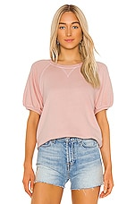 The Great The Short Sleeve Puff Sweatshirt in Rose