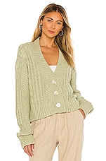 The Great The Cable Montana Cardigan in Sea Green