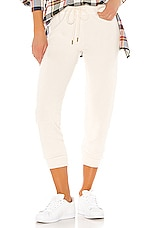 The Great The Cropped Sweatpant in Washed White