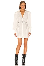 GRLFRND Lo Shirt Dress in White