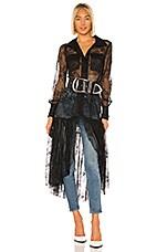 GRLFRND Dakota Midi Dress in Black
