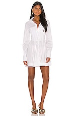 GRLFRND Luca Shirt Dress in White
