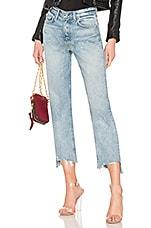 GRLFRND Helena Crop High-Rise Straight Jean in Collison