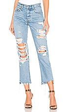 GRLFRND Helena High-Rise Straight Crop Jean in Guess Again