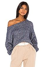 GRLFRND Flash Dance Sweater in Marled Blue