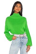 GRLFRND Misty Slouch Sleeve Sweater in Bright Green