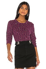 GRLFRND Freckled Sweater in Fuschia & Black