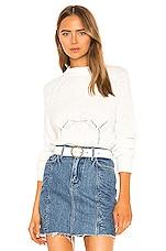 GRLFRND Shawna Sweater in White