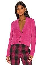 GRLFRND Gracie Cardigan in Bright Pink