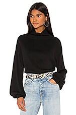 GRLFRND Misty Slouch Sleeve Sweater in Black