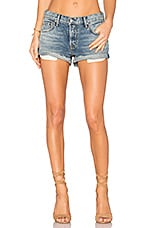GRLFRND Adriana Mid-Rise Slouchy Shorts in Disco Lady