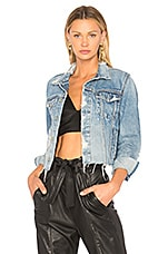 GRLFRND Cara Cropped Denim Jacket in Mary Jane