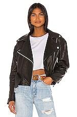 GRLFRND Charlie Leather Moto Jacket in Black