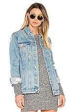 Daria Customizable Oversized Denim Trucker Jacket in You & I