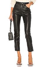 GRLFRND Shiloh Leather Pant in Black