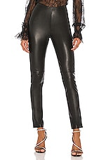 GRLFRND Maci Leather Legging in Black