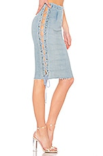 GRLFRND Crystal Lace Up Skirt in Beat Drop