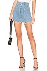 GRLFRND Twiggy High-Rise Mini Skirt in Promises