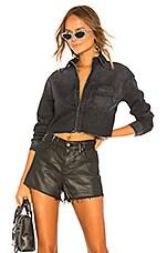 GRLFRND Christy Crop Cut Off Shirt in Moonlight Drive