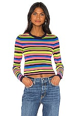 GRLFRND Nash Sweater Tee in Multi Stripe