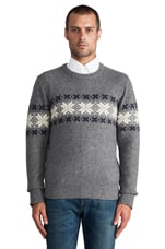 Flakey Sholder Sweater in Dark Grey Melange