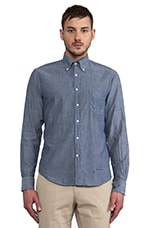 Selvage Madras Button Down in Indigo