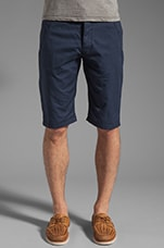 Western Bronson Chino Straight 1/2 Short in Navy